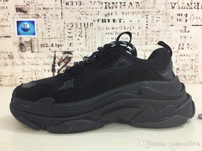 6b24dfe45b5 2018 BaleNciaga Triple S Designer Luxury Shoes Low Top Sneakers Triple S  Men S   Women S Casual Shoes Outdoor Sports Trainers Shoes 36 45 Shoes Uk  Pumps ...
