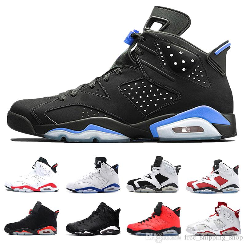 Cheap 6 Basketball Shoes Men Sneaker 6s Unc Black Cat Infrared White