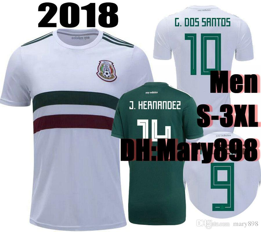 ed3075e79e5 ... top thai quality world cup 2018 mexico home soccer jersey 2018  chicharito h.lozano g