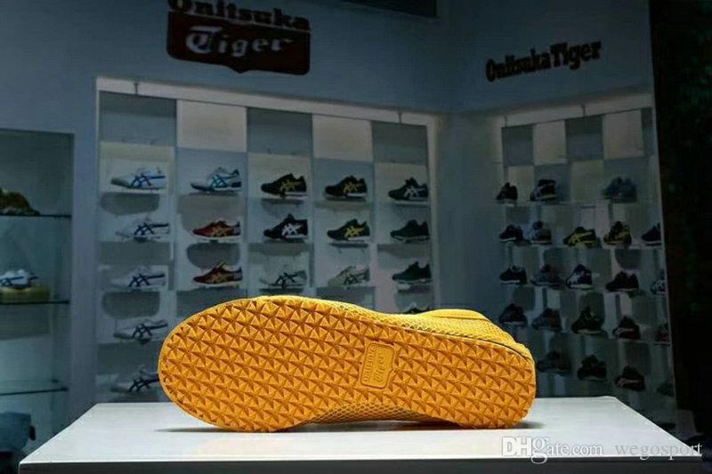 Asics MEXICO66 Originals Onitsuka Tiger Weaving Net surface Running Shoes Bruce Lee Yellow New Color Lightweight Sports Sneakers