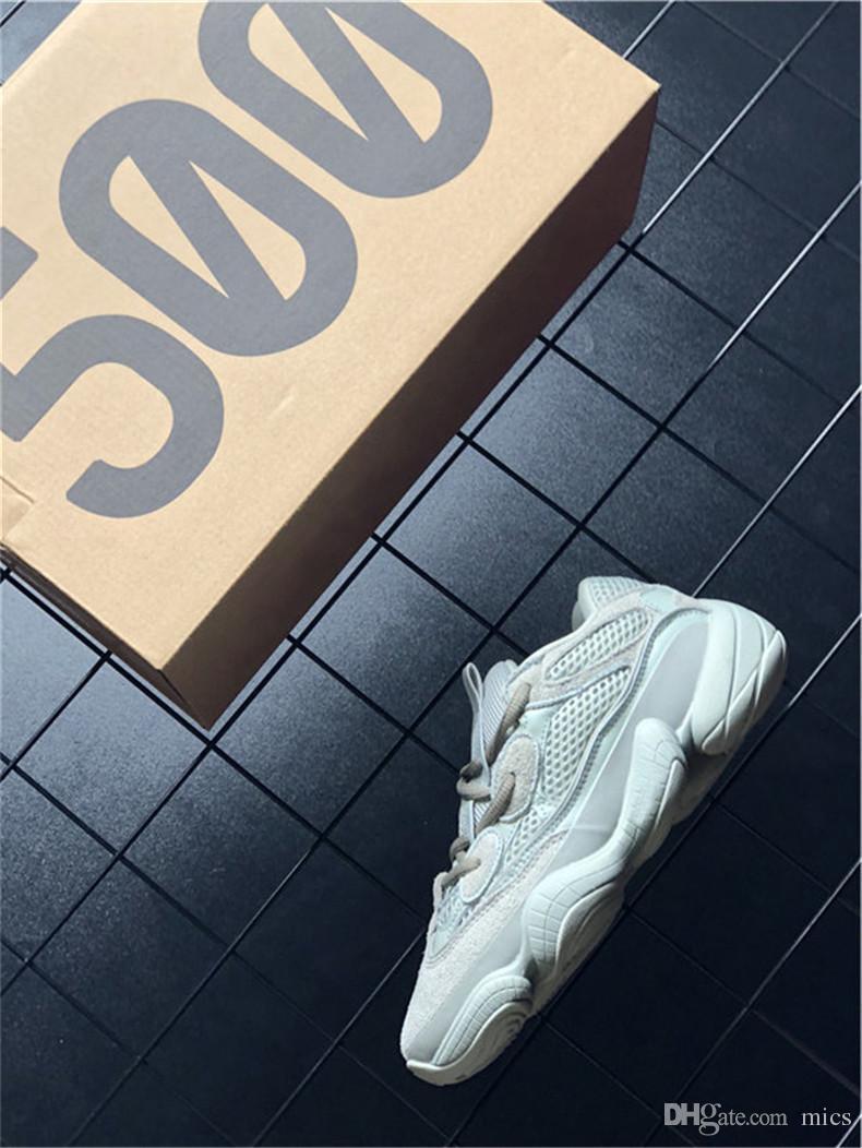 e436ca7ea Originals 2018 Kanye West 500 Salt Desert Grey EE7287 Running Shoes ...