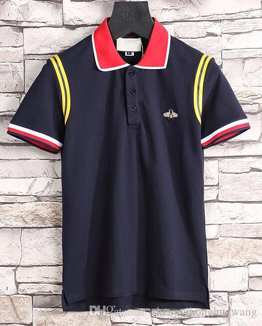 Verão designer de moda marcas luxurys tag homens tecido carta letra polo t-shirt de gola casual mulheres g t-shirt tops 31