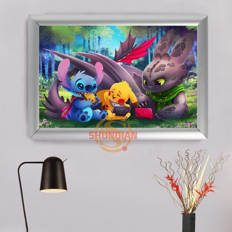 2019 Home Decoration Stitch Lilo Canvas Art Printing Photo On Canvas