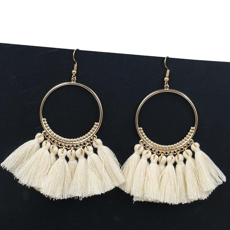 Boucles d'oreilles à la main pour femmes Big Drop Earring Fashion Jewelry Trendy Long Earings
