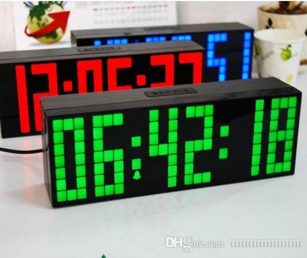 22e074366d9 Compre NOVA Relógio LED Jumbo Grande Relógio De Parede Digital Contagem  Regressiva Relógio Mundial Azul   Vermelho   Verde   Branco LED Relógios ...