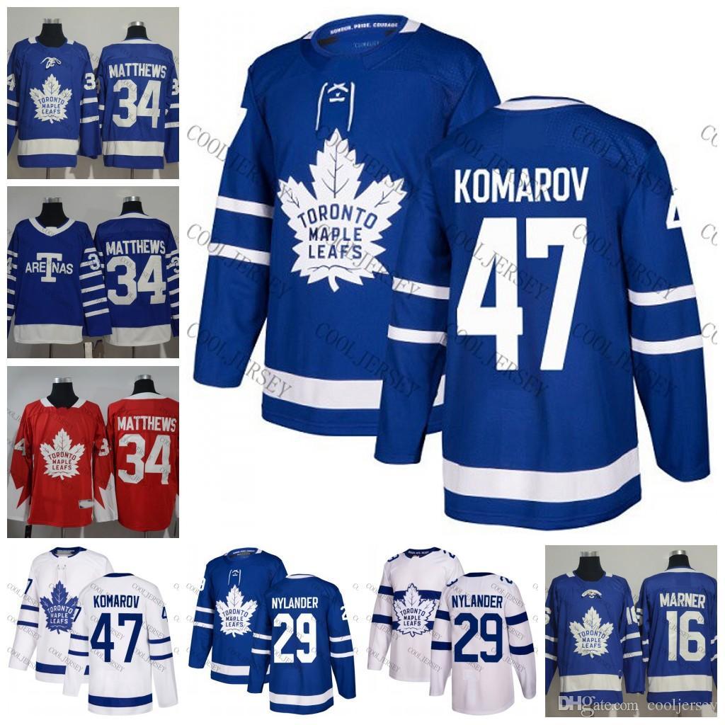 ... usa 2018 2018 toronto maple leafs hockey 47 leo komarov 29 william  nylander 2 ron hainsey 5a0b7fe08