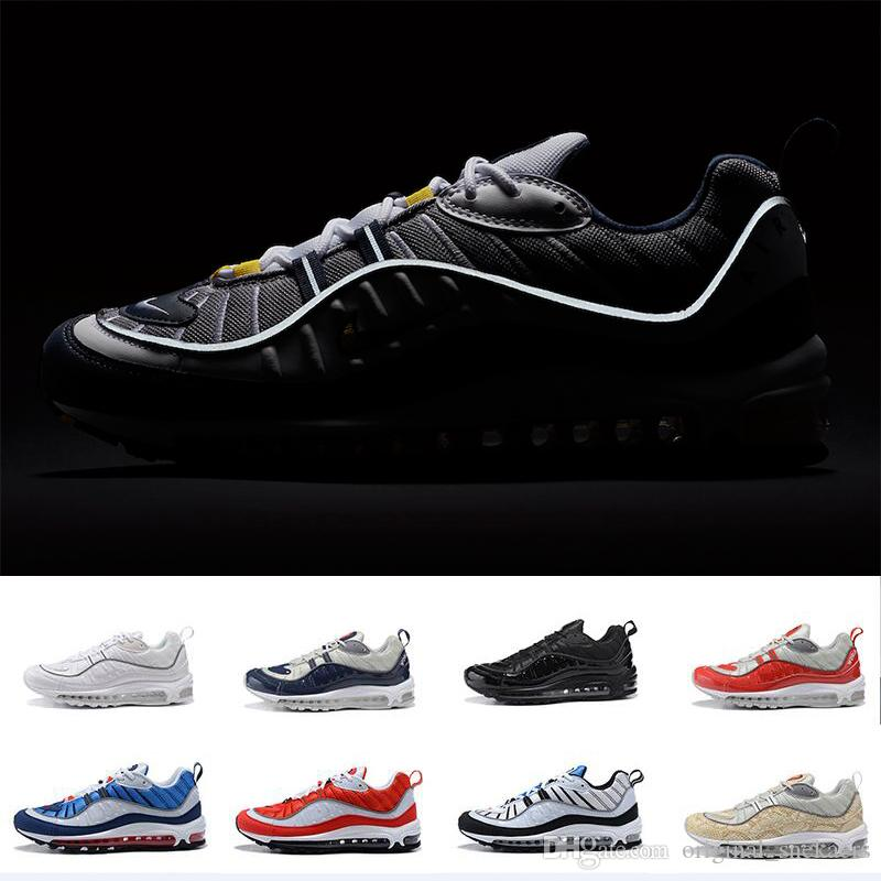 visit online explore New Arrival 98 Gundam Sports Running Shoes for High quality Men's 98s White Blue Red Navy Black Outdoor Athletic Sneakers size 40-46 cheap sale affordable ll3ql76Knx