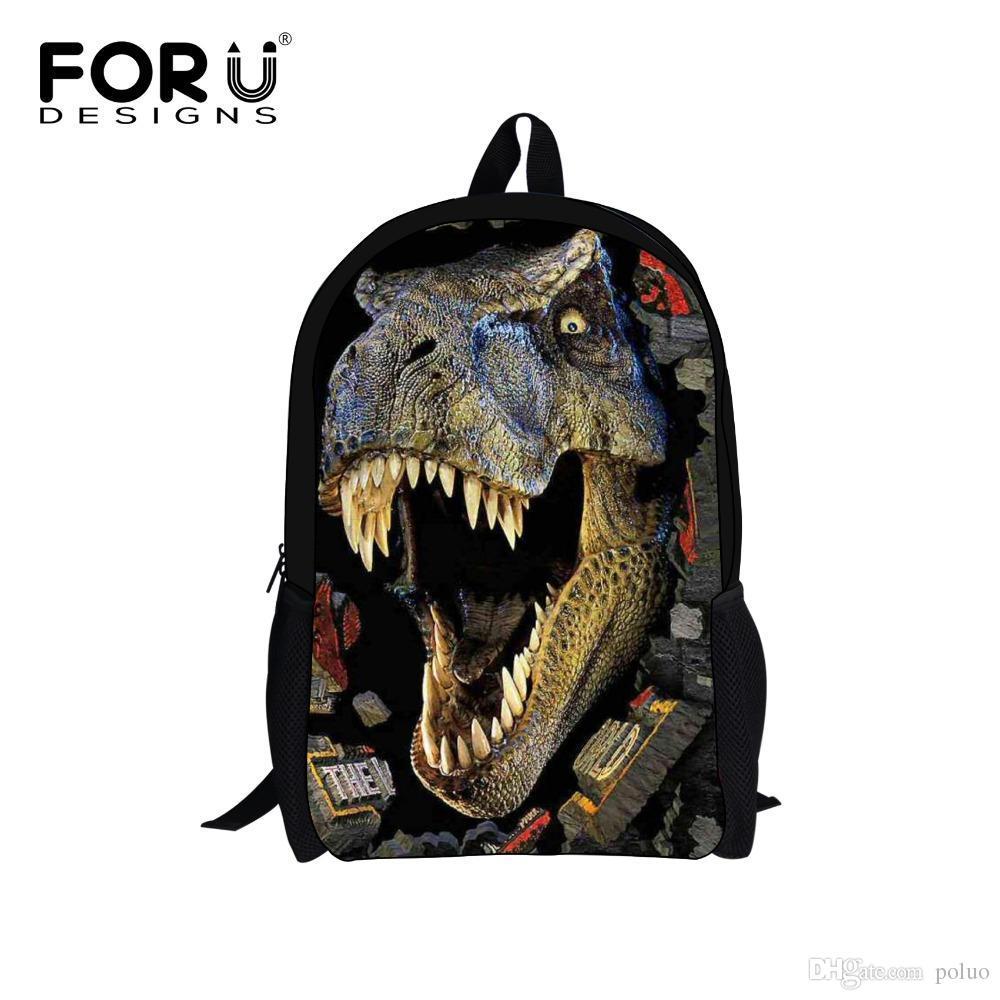 5332394600 Cool Jurassic World Dinosaur Backpack 3D Animals School Bags For Teenagers  Boy Travel Bag Children Bagpack Rucksack Kids Mochila Big Backpacks Sports  ...