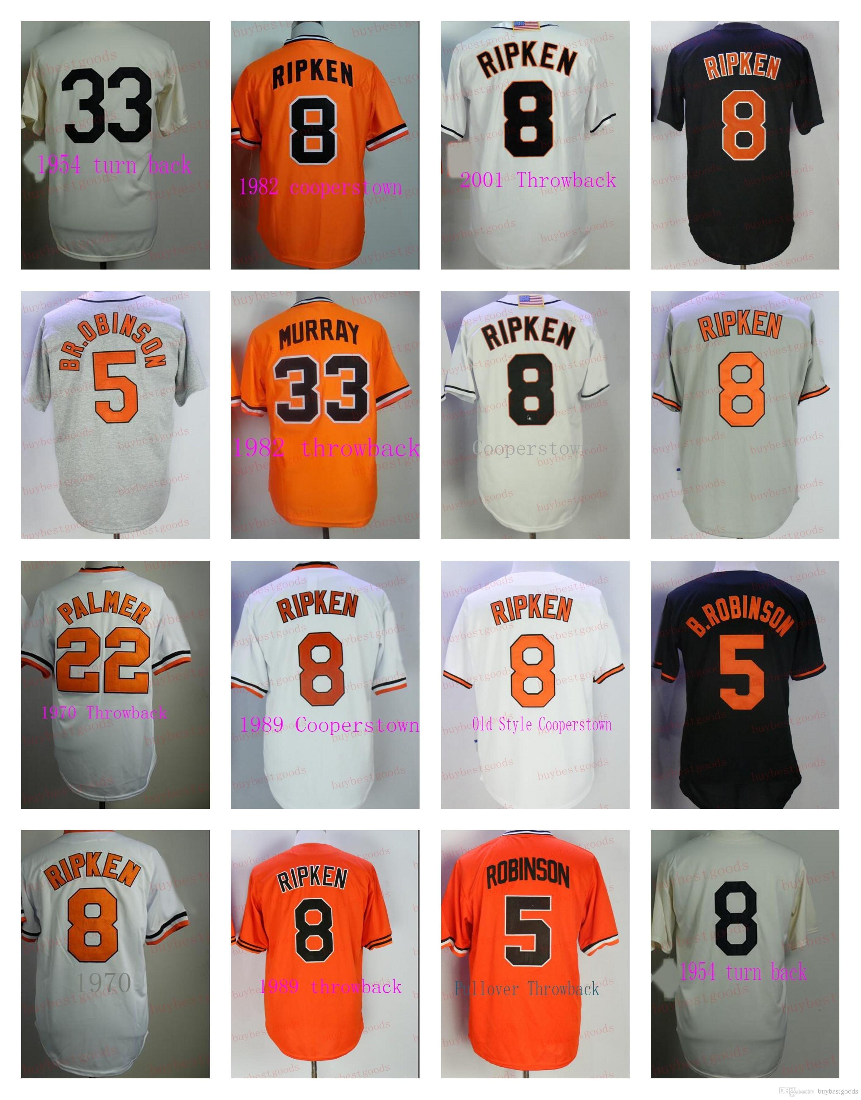 best service 6a3bb 94779 Baltimore Cal Ripken Mitchell & Ness Cooperstown Brooks Robinson Jim Palmer  Frank Robinson Eddie Murray Baseball Jerseys Stitched