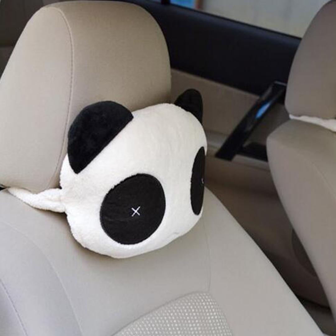 New Panda Plush Headrest Auto Seat Covers Head Neck Rest Cushion Cartoon Pillow Pad Supplies Safety Random Style Throw Colorful