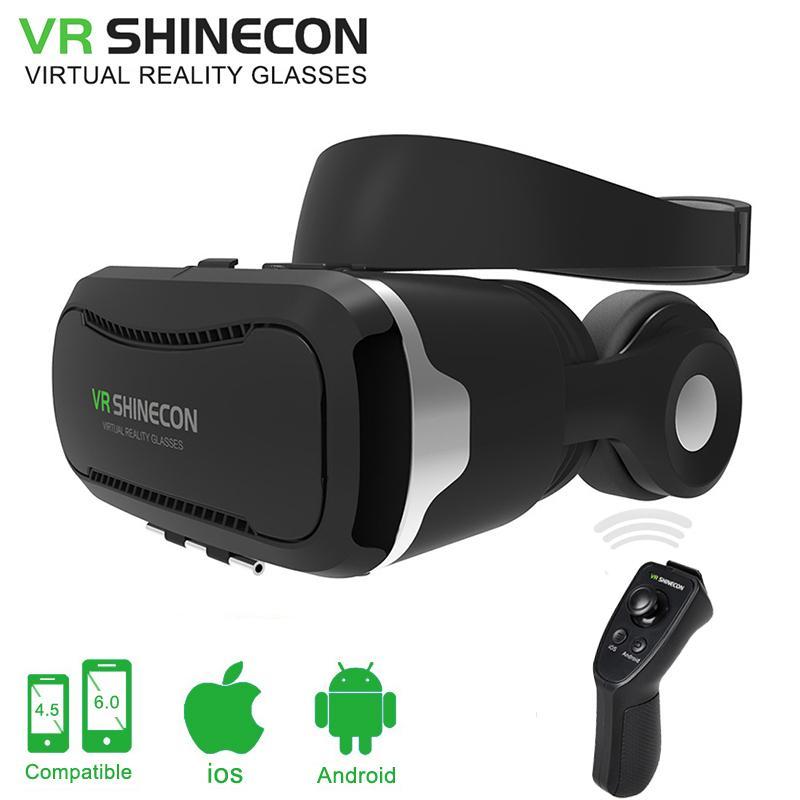 9d3ec6c20dbf5 Compre VR Shinecon 4.0 Óculos 3D Óculos De Realidade Virtual Caixa De  Papelão VR VR 2.0 Com Fone De Ouvido Para 4.3 6.0 Polegada De Smartphones  De Cigirat
