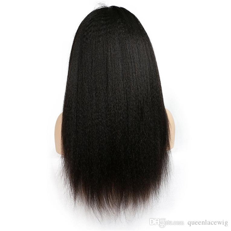 Yaki Droite Perruque De Cheveux En Dentelle Avant de Perruque