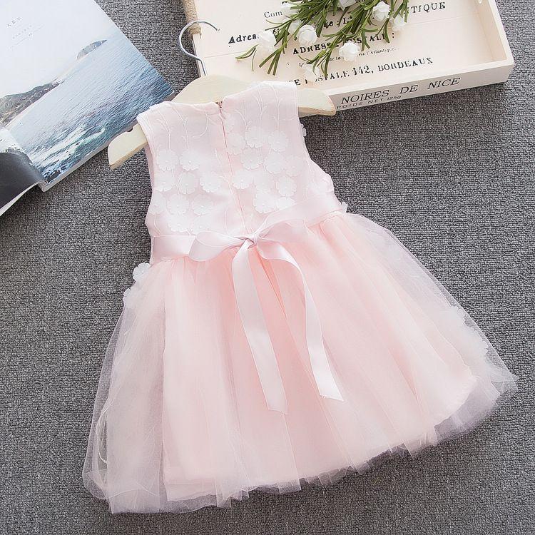 Sweet Baby Girls Floral Princess Dresses Nice TuTu Dresses Summer Skirts 2018 Girl Toddler Costume Infant Clothes