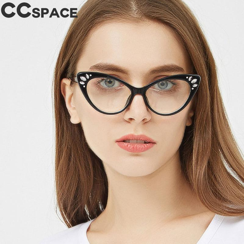fd70854de45f 45592 Crystal Cat Eye Glasses Frames Small Cateye Women Glasses Style Clout  Brand Optical Fashion Computer Glasses Festival Gift Best Eyeglass Frames  Buy ...