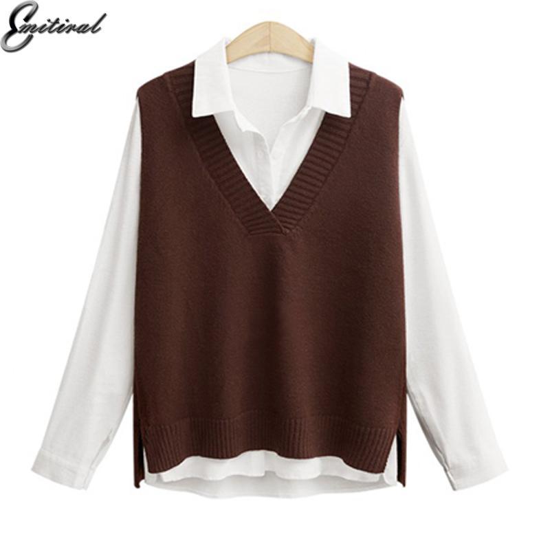 2019 2018 Autumn Winter Warm Women Sweater Vest Plus Size 4xl
