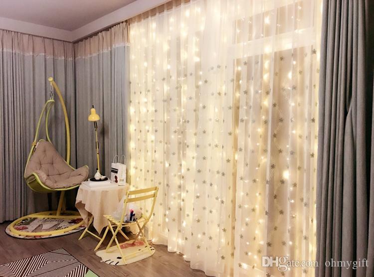 LED-Vorhang Lichterketten, 300 LEDs Vorhang Eiszapfen Lichterkette Lichterkette mit 8 Lichtmodi Sicherste Low-Voltage für Dekor mit Fernbedienung