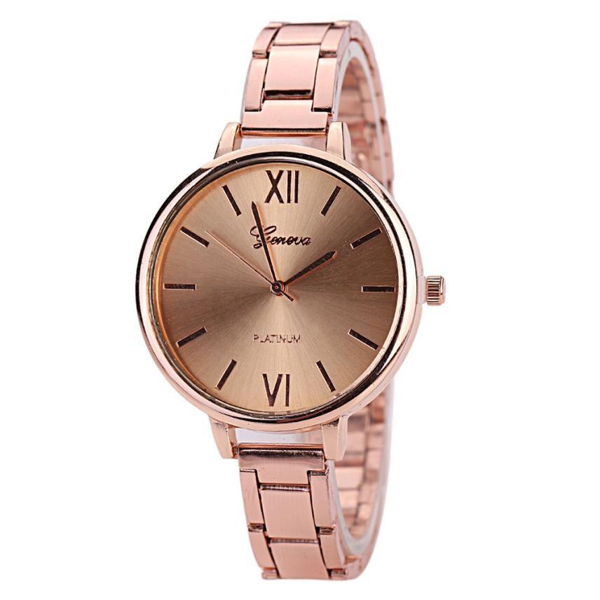 0936682b8782 Compre Relojes De Lujo Para Mujer Reloj De Cuarzo Geneva Reloj De Acero  Inoxidable Para Mujer Reloj De Cuarzo Rosa Dorado Relojes Relogios Feminino  A  35.92 ...