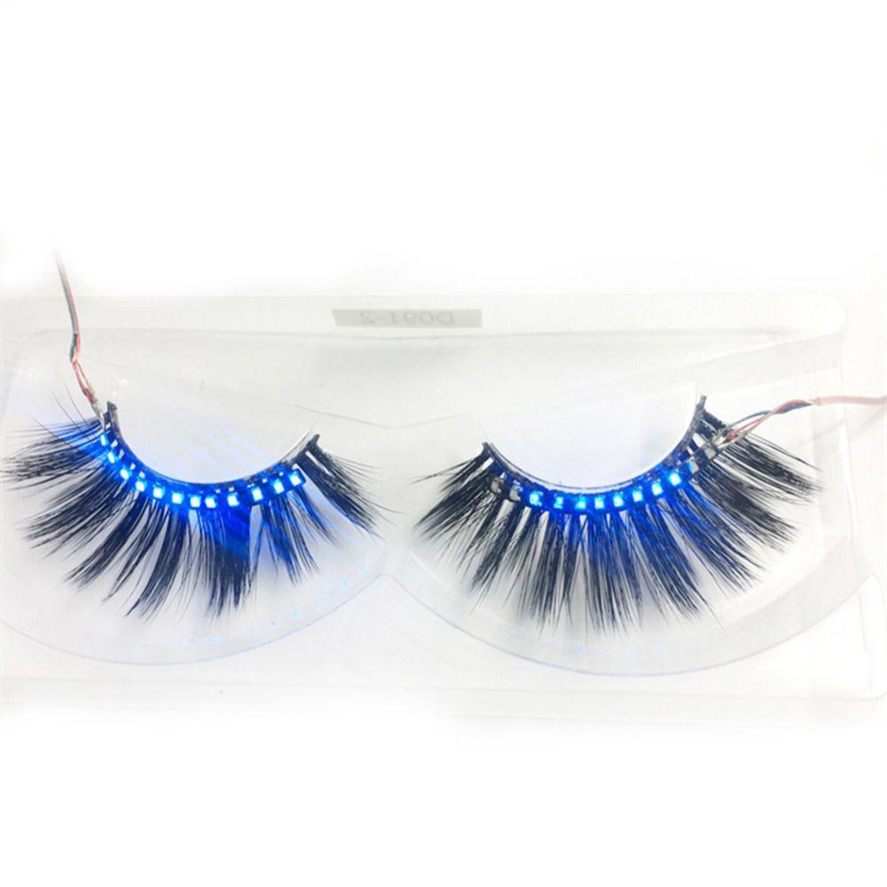 2018 Oobest Led Luminous Waterproof Eyelashes Strips Light Fake