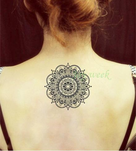 Waterproof Temporary Tattoo Sticker Flower Lotus Mandala Henna