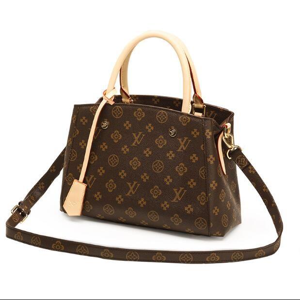 6d34bb7033775 Großhandel 2018 Marke Mode Luxus Designer Taschen Totes Taschen Luxus  Frauen Aus Echtem Leder Taschen Mode Dame Handtasche Fabrik Großhandel Auf  Lager Von ...