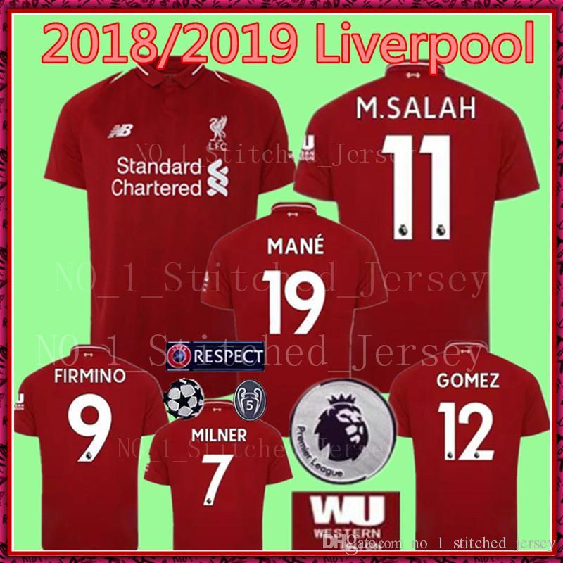 2018 M.SALAH FIRMINO MANE LIverPooLING Home Away Soccer