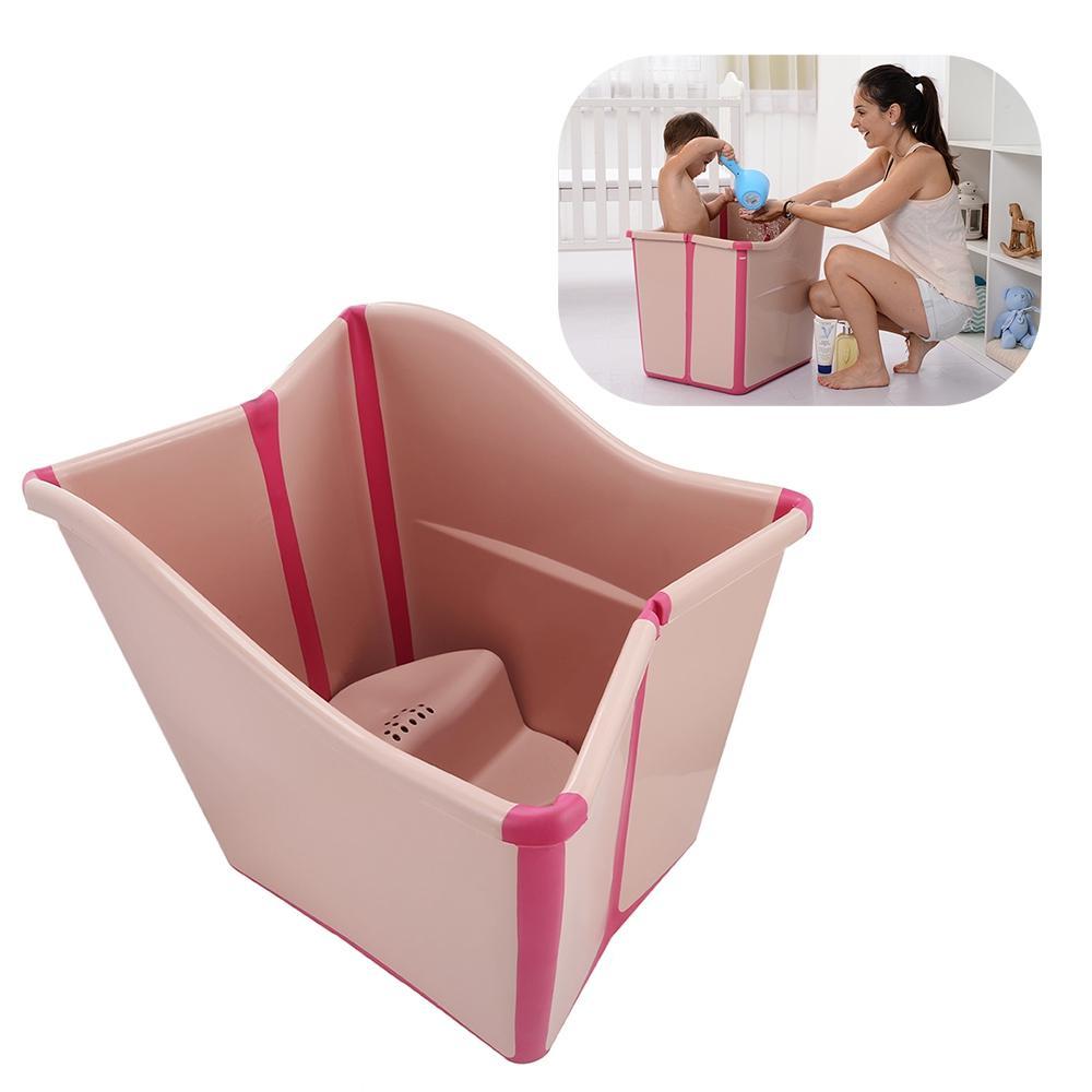 2018 New Safe Baby Bath Tubs Large Folding Kids Bath Shower ...