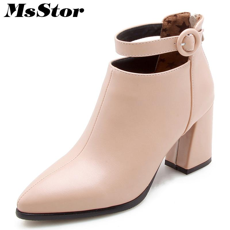 426dd479fca6a Pointed Toe Square Heel Women Boots Fashion Buckle Ankle Boots Women Shoes  Zipper Cheap High Heel Boots Shoes Woman Large Size Boots For Women Black  Boots ...