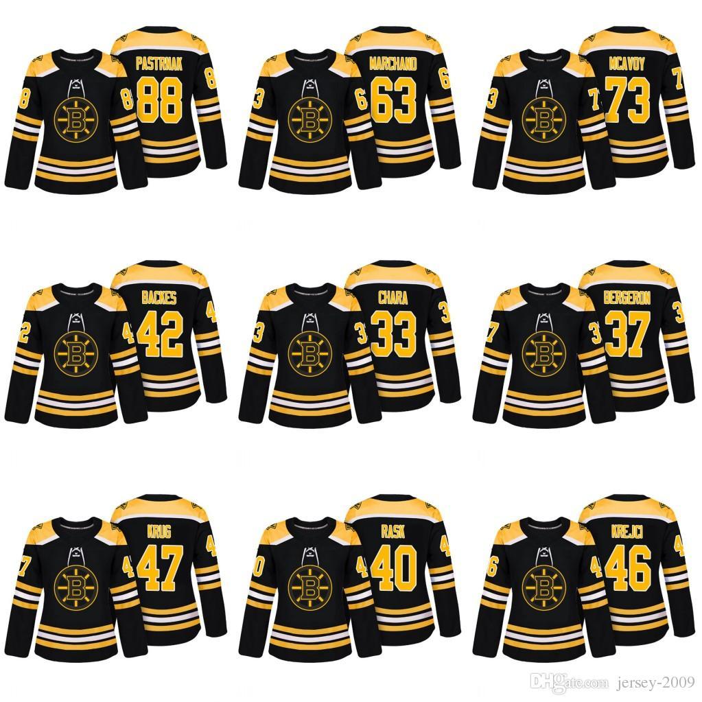2019 2018 Women 47 Torey Krug 51 Ryan Spooner 46 David Krejci 73 Charlie  Mcavoy 88 David Pastrnak Boston Bruins Black Authentic Hockey Jersey From  Jersey ... b56d678f0