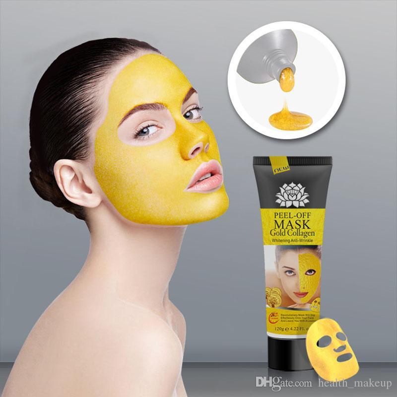 تقشر قناع الوجه الكولاجين الذهب التنظيف العميق 120ML كريستال قناع أقنعة البثرة المزيل الوجه العناية بالبشرة الشحن المجاني