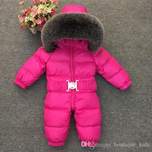 ebf126efbefc 2018 Winter Baby Rompers Kids Boys Girls Snow Wear Snowsuit Toddler ...