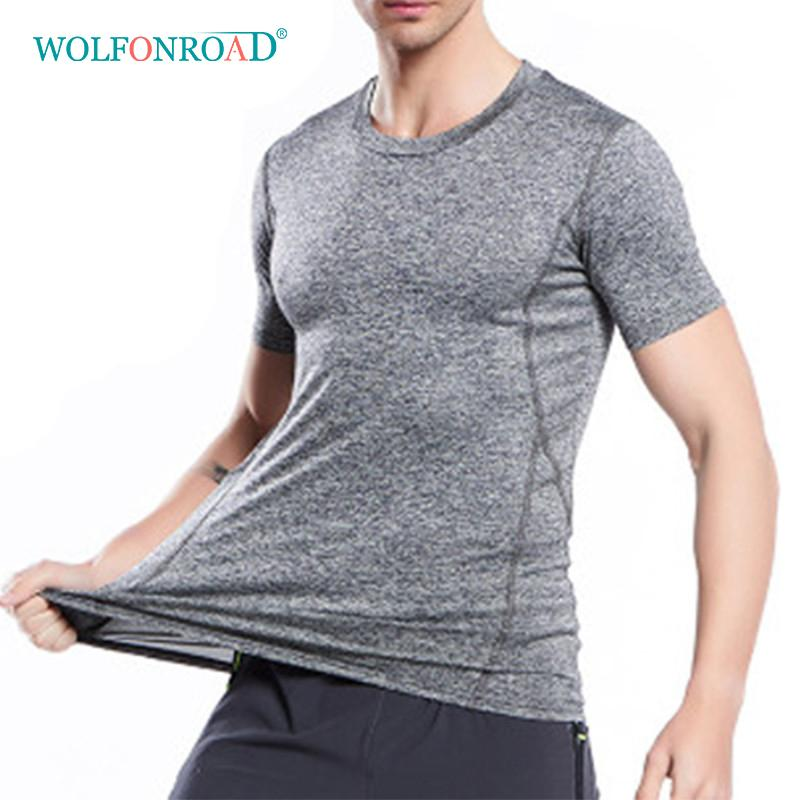 5ce980468c953 2019 WOLFONROAD Summer Men S Quick Dry T Shirts Running Fitness T Shirts  Thin Elastic Sport Tee Shirts Plus Size Male Tops L QZKYS 09 From  Lvmangguo