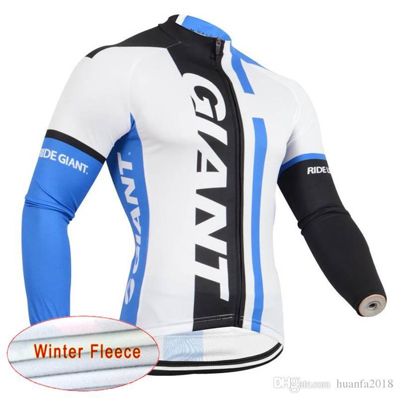 Giant team radfahren winter thermische fleece jersey männer heißer verkauf neue atmungsaktiv schnell trocknen mtb bike d2529