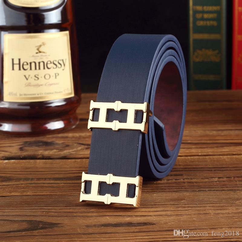 2018 Ceintures en cuir de daim de luxe pour les hommes ceinture en métal boucle boucle ceinture pour Casual Jeans haute qualité marque bracelet mâle 4 couleurs 8917