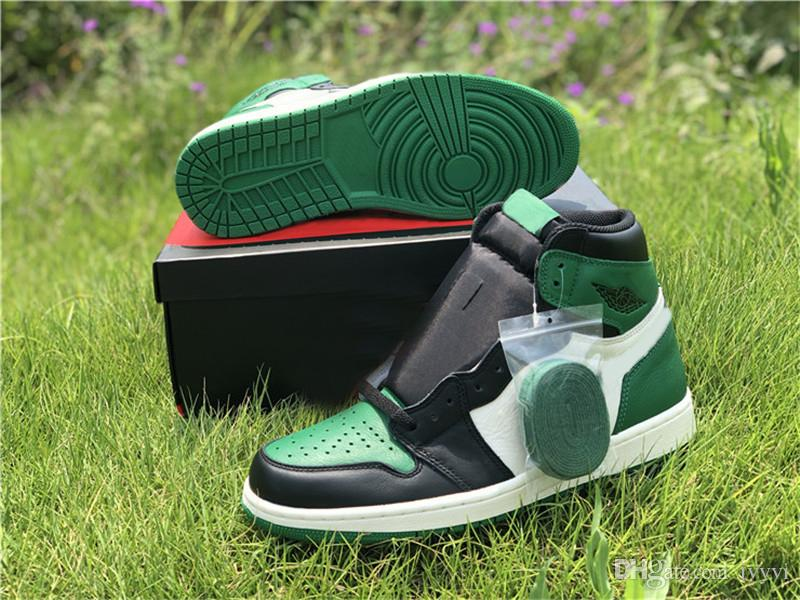 13f39d2146b1 2018 Release Air High OG 1 Pine Green 1S Man Basketball Shoes For Men  Sports Sneakers Real Leather With Box 555088 302 US7 13 Jordans Shoes Sport  Shoes From ...
