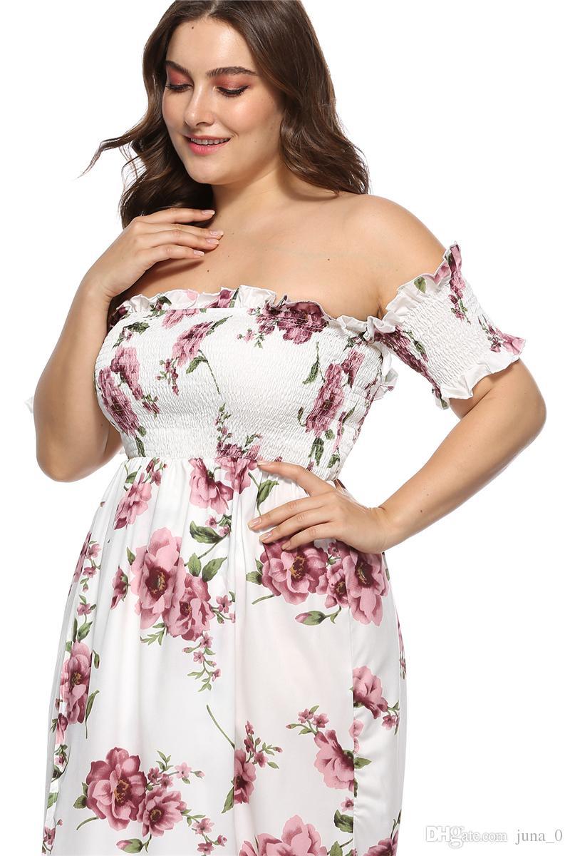 Plus Size S Designer Clothes | Plus Size Women Clothing Dhl Women S Boho Off Shoulder Strapless
