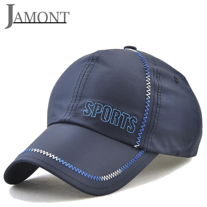JAMONT Hiking Fishing Baseball Hats Embroidery Ourdoor Sports Cap  Waterproof Breathable Trucker Cap Quick Drying SunHat Snapback Cap Store  Custom Fitted ... b3b2341514f