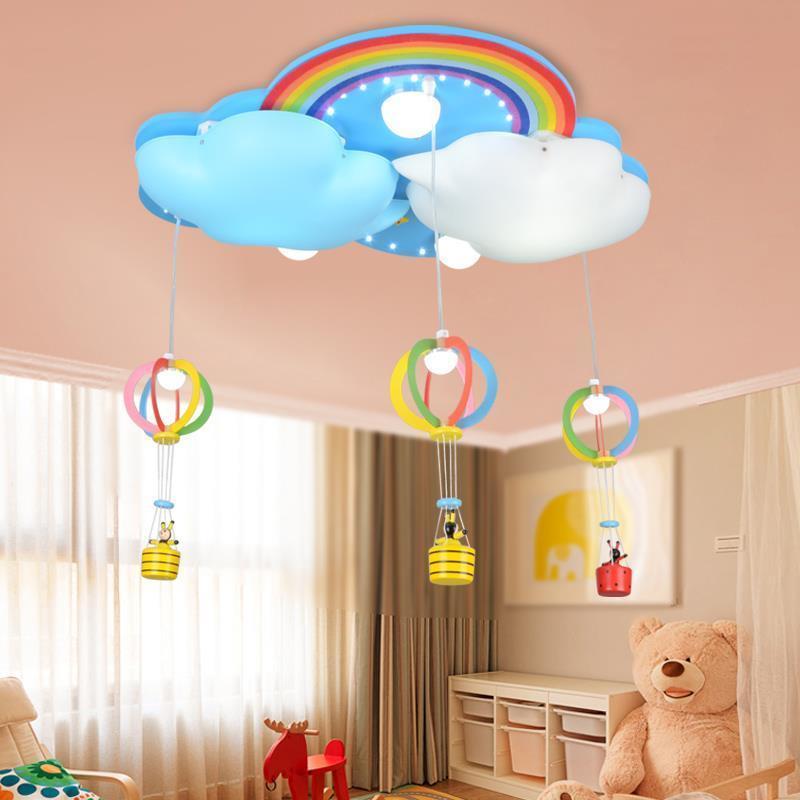 Acquista Clouds Bambini Rainbow LED Plafoniera Camera Da Letto ...
