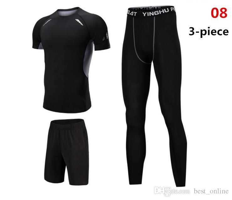 Rash Guard Mma Compression Suit Men S Wear For Fitness Bodybuilding T Shirt+ Compression Pants Tracksuit Men Thermal Underwear UK 2019 From Best online 078074e50010