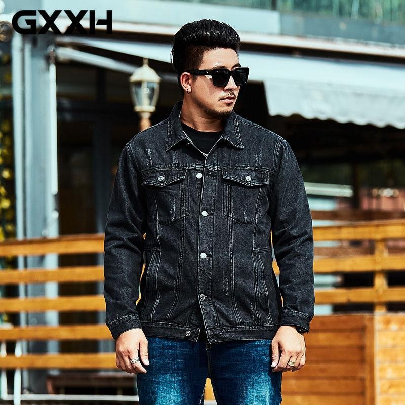 Gxxh 2018 Xxl 6xl Men Denim Jacket Clothing Max Chest 141cm Denim
