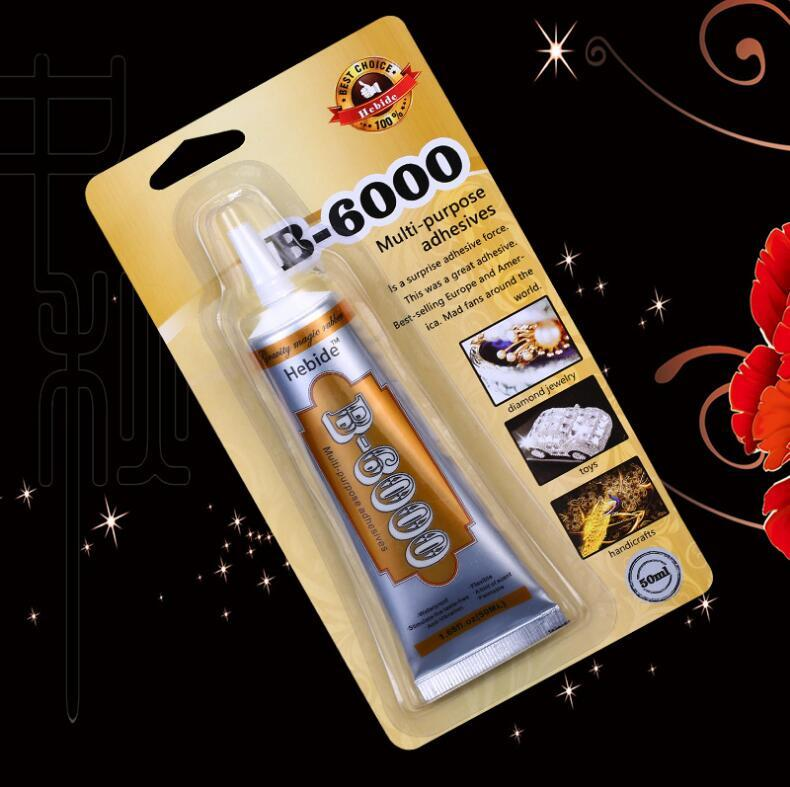 B-6000 Glue 50ml Card packing Adhesive Rhinestone Crystal Jewelry Craft Diy Touch Screen Cell Phone Repair Glass point d