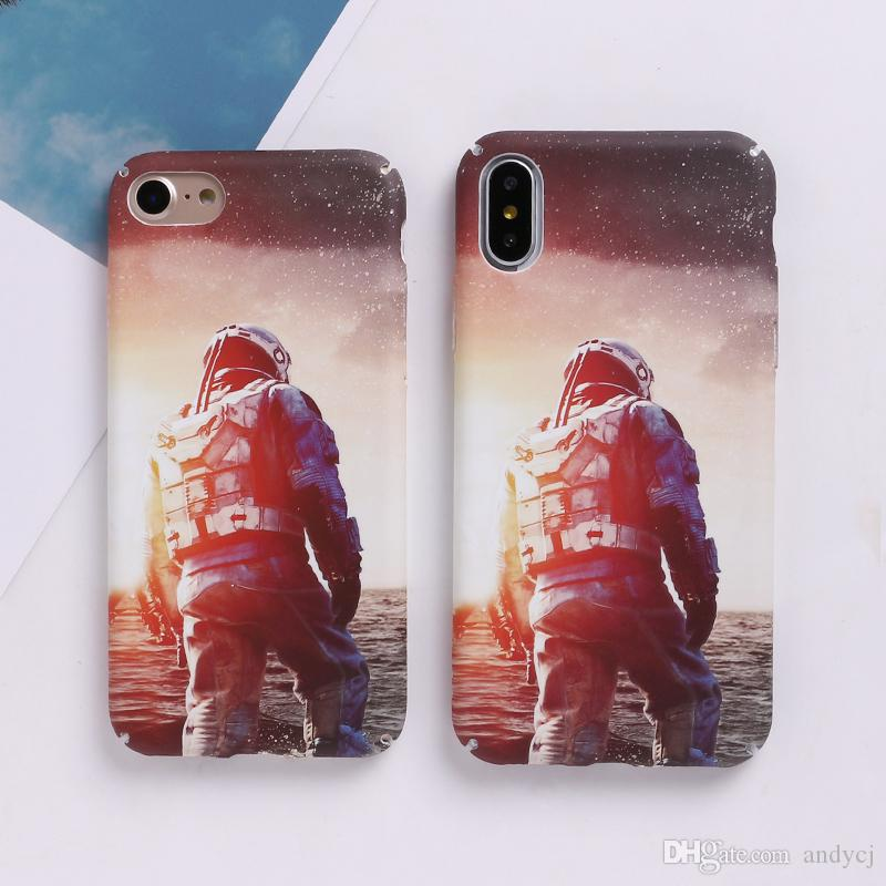 sale retailer df678 e36cc Top Selling Space Moons Phone Case For iPhone6 Fashion Candy Cartoon  airplane frosted Back Cover For iphone 6S 7 7Plus Capa