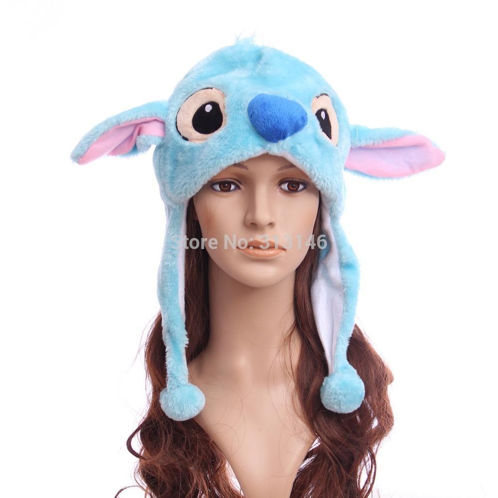 6b3559ab8ec 2019 Soft Cartoon Plush Animal Stitch Fuzzy Beanie Warm Hat Winter Adult  Women Men s Children Kids Boys Girls Fluffy Cosplay Costume From Godefery