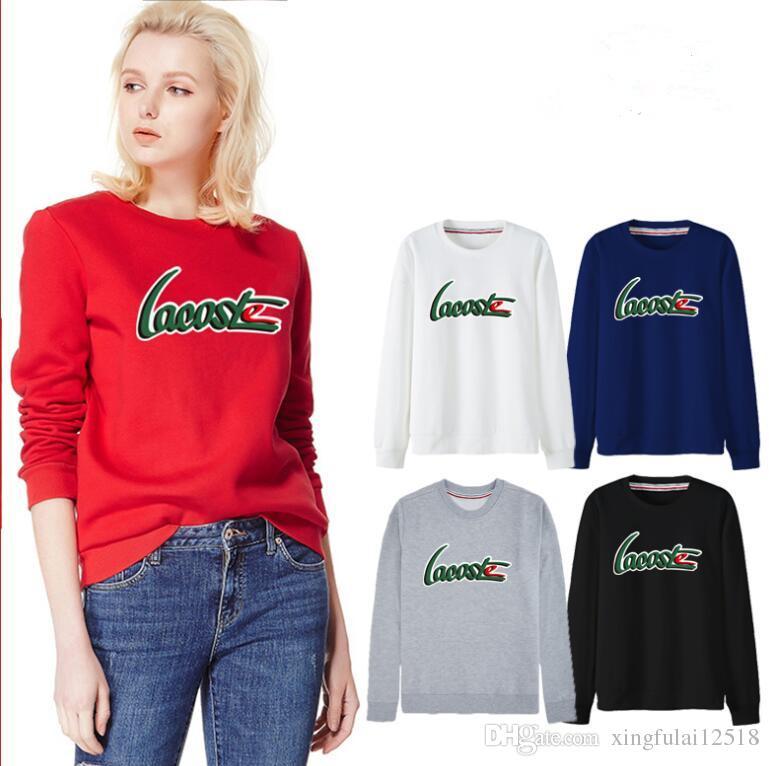 197494b9e57 2018 Hot Fashion Brand Clothing WoMen Letter Printing Cotton Polo ...