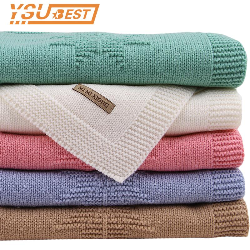 2018 Crochet Baby Swaddle Knit Baby Swaddling Blanket Infant Newborn Toddler Boys Girl Throwing Blanket Quilt Sofa Bedding Cover
