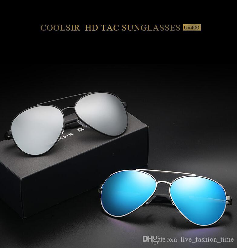 Brand Designer Polarized Sunglasses Metal Frame Flash Mirror polaroid Lenses Retro Vintage Sun glasses for Men Women Driving glasses UV400