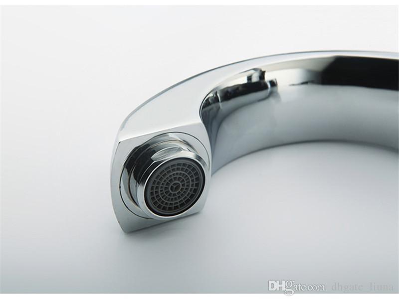 New Chrome Finish Single Lever Home Bagno Bacino Rubinetto Beccuccio Lavello acqua fredda Rubinetto rubinetto cucina rubinetto