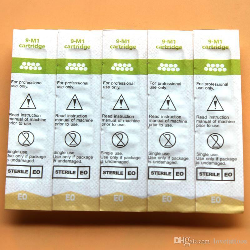 /box Sterilized Cartridge Needles 600D-G9M1Eyebrow Tattoo Needles Tips for Permanent Makeup Pen Machine Eyebrow Lip