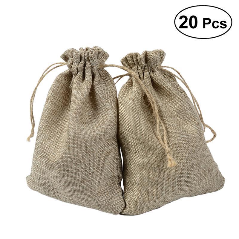 55ffcba79 Compre 20 Unids Bolsas De Arpillera De Lino De Yute Caramelo Goodie Regalo  De La Joyería Bolsa Saco De Boda Favorece Suministros A $20.87 Del  Luzhenbao525 ...