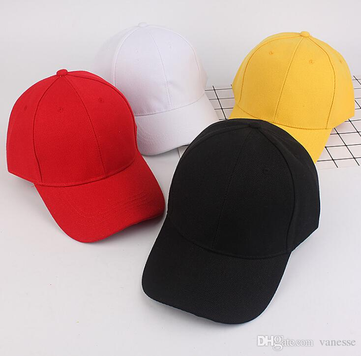 2c68243f166 Men Women Plain Curved Sun Visor Baseball Cap Hat Solid Color High Quality  Fashion Adjustable Caps Snapbacks Baseball Cap Baseball Hat Online with ...