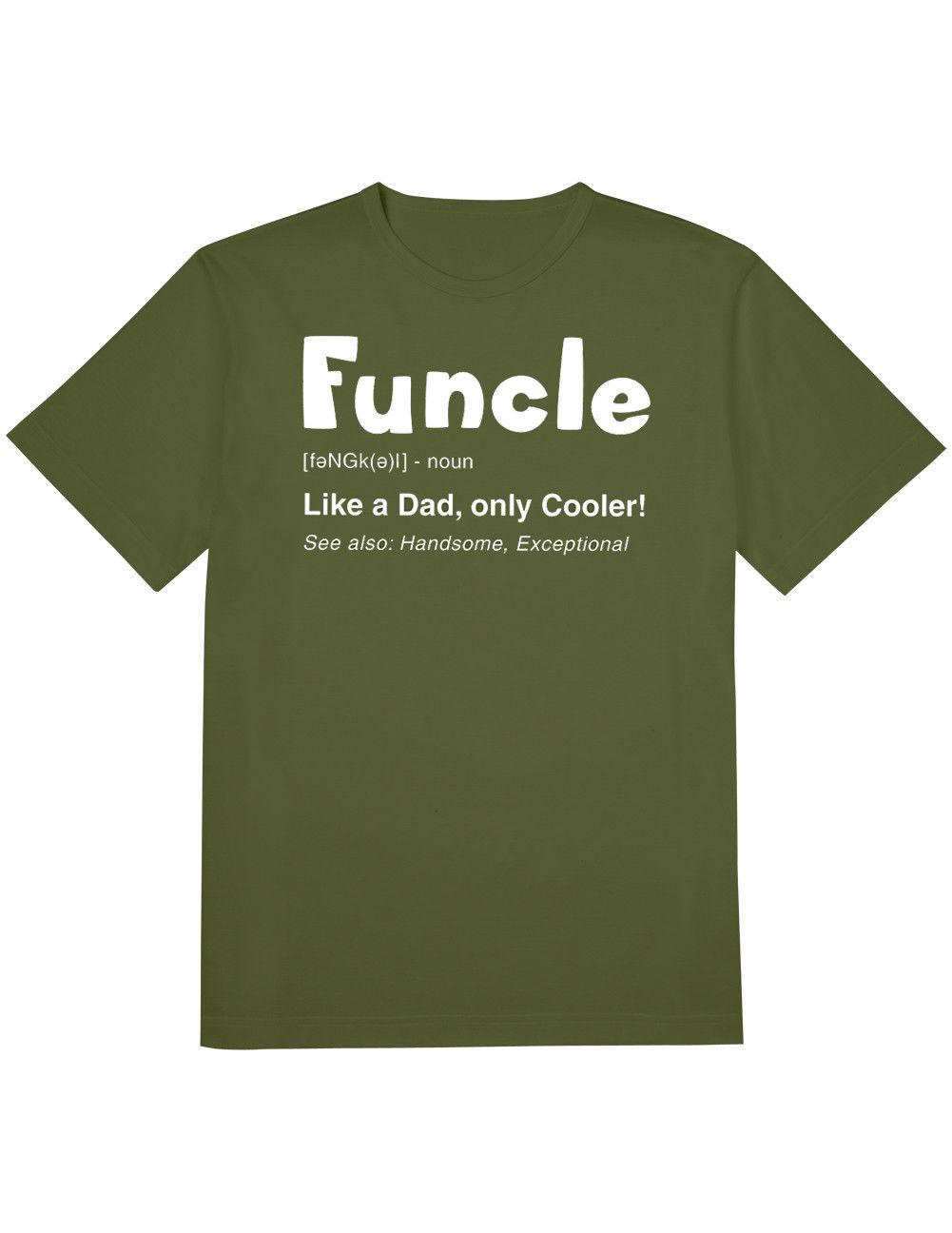 7b070a2c NEW NWT Funcle T-Shirt - Like a Dad Only Cooler! Handsome Short Sleeve 100%  Cotton Man Tee Tops Short Sleeve Round Neck Movement Online with  $14.96/Piece on ...